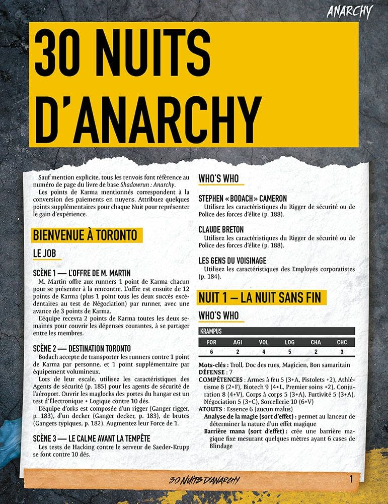 30 nuits d'Anarchy