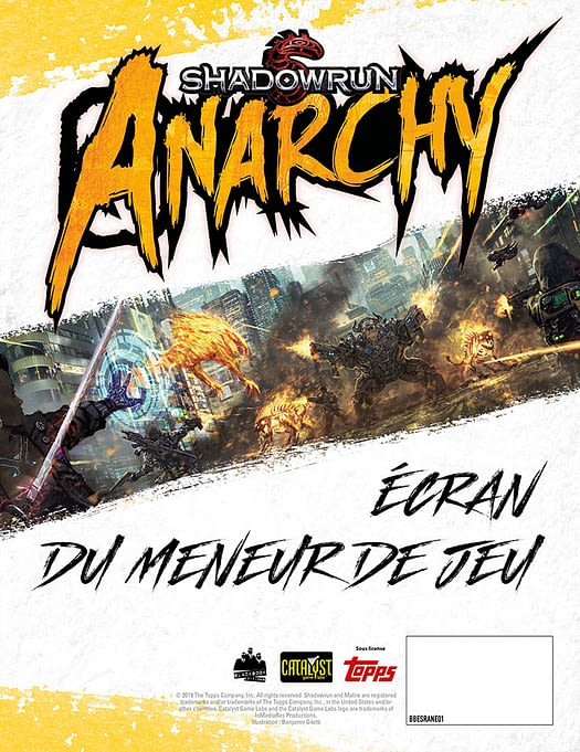 Ecran pour Shadowrun Anarchy