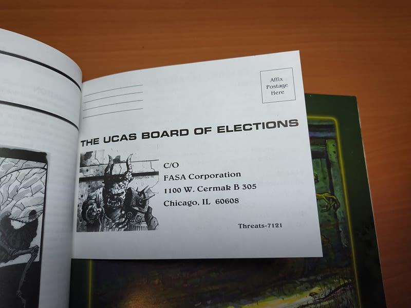 Bulletin de vote par correspondance pour les élections présidentielles des UCAS de 2057 - Recto