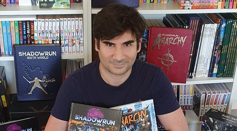Benjamin Giletti et SR6 - Pour Shadowrun-jdr.fr - Bannière