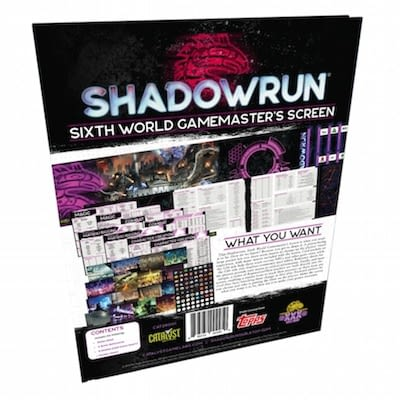 Ecran pour Shadowrun - aides de jeu